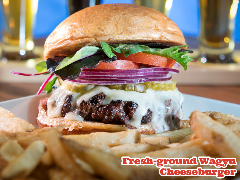 Fresh-ground Wagyu Cheeseburger with Fries