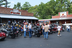 Rockin' Pig Saloon is biker and family friendly