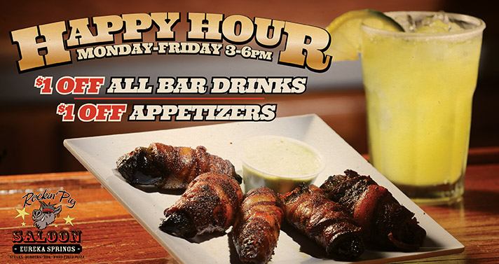 Happy Hour - Monday-Friday 3-6pm