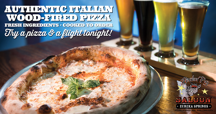 Authentic Italian Wood-Fired Pizzas - Pair one with one of our 22 craft beers!